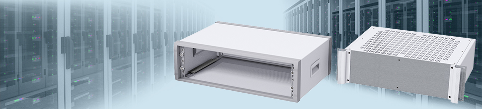 19 inch rack mount enclosures, rack cases enclosures in 1U to 6U sizes. Click here to view...