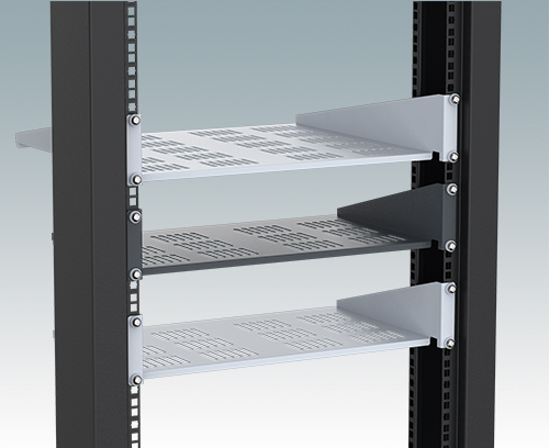 "Universal 19"" cantilever rack shelves"