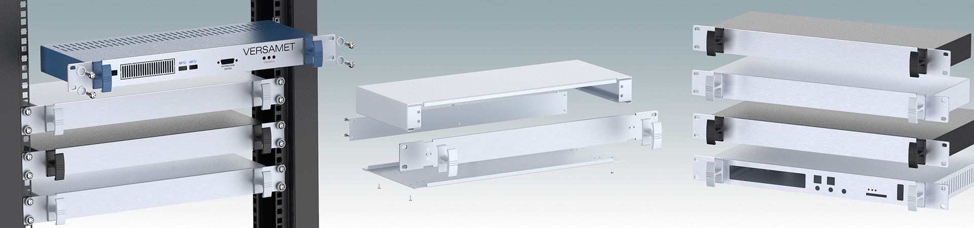 Versamet 19 inch enclosures